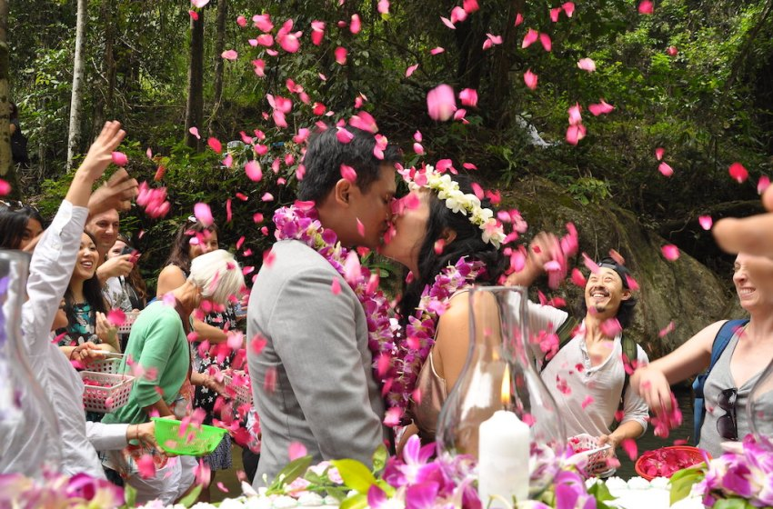 Thai wedding party