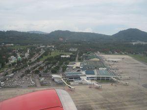 Aerial view of Phuket international airport