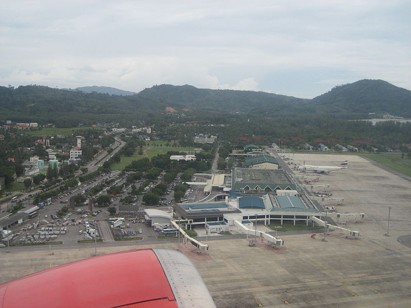 Aerial view of Phuket international airport