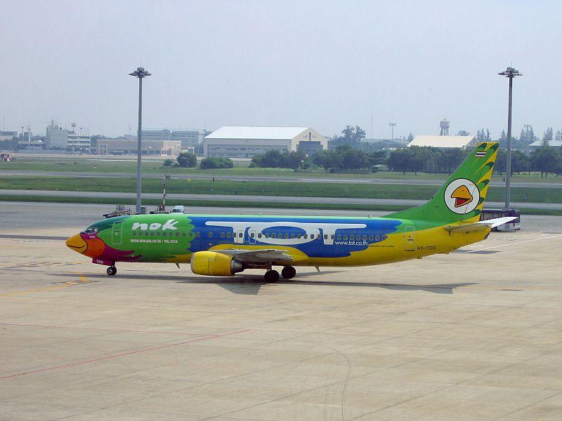 Nok Air Boeing 737-400 at Bangkok Don Mueang International Airport