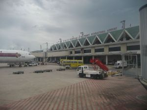 Thai Airways aircraft at Phuket International airport