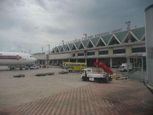 Thai Airways aircraft at Phuket International airport