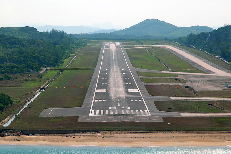 Phuket International Airport runway