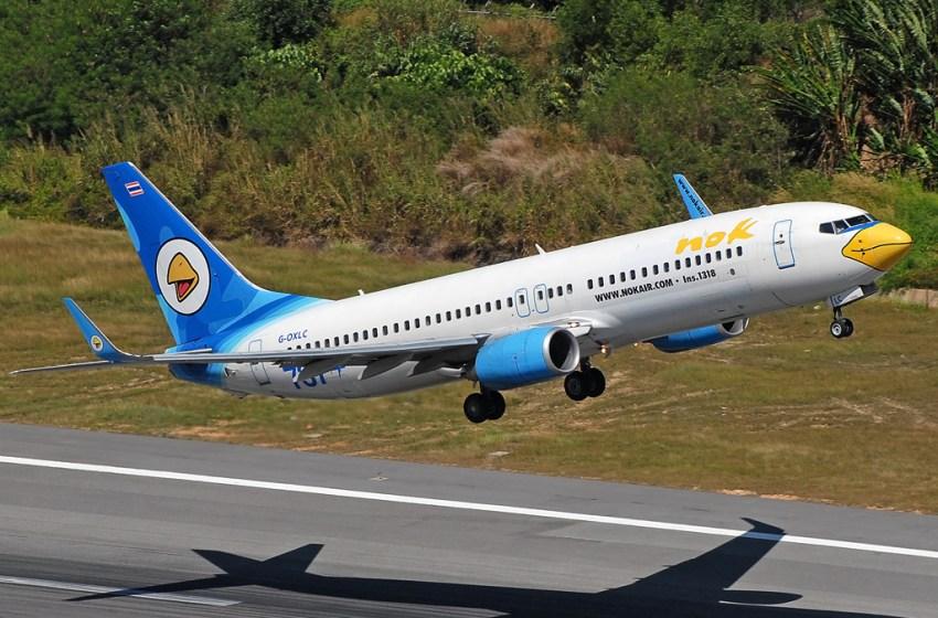 Nok Air Boeing 737-800 in Phuket.