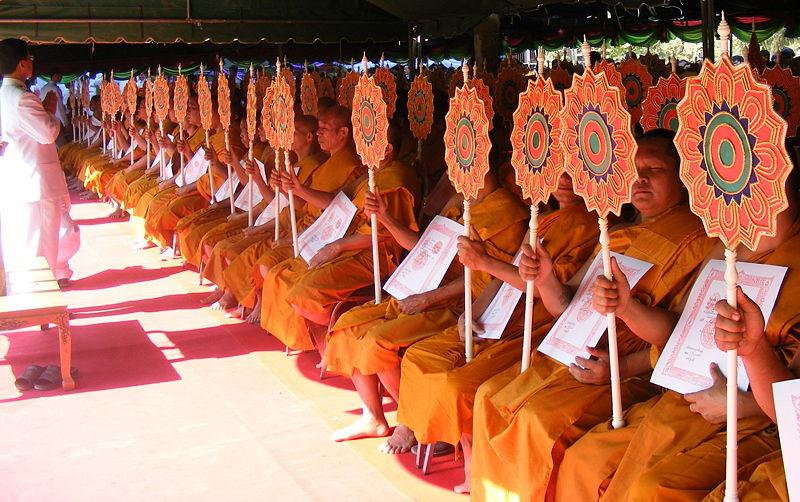 Buddhist ceremony in Sukhothai.