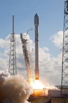 Falcon 9 vertical with THAICOM 8 launch in Cape Canaveral, FL.