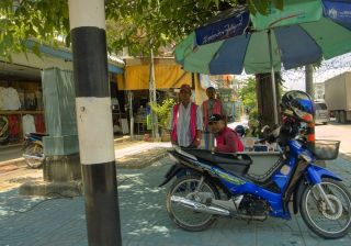 Honda Wave125 S motorcycle taxi in Cha-am