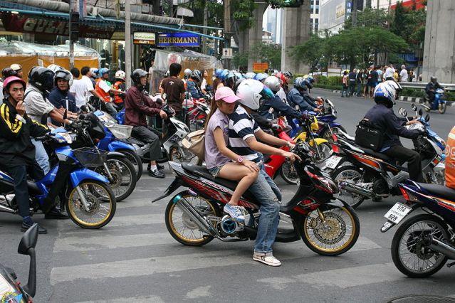Seven injured in Bangkok as sleepy motorist ploughs into motorcyclists