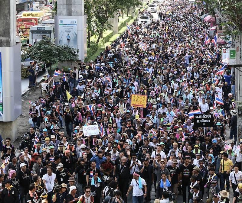 Suthep's procession in Bangkok