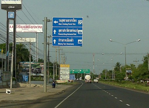 Road Sign in Buriram