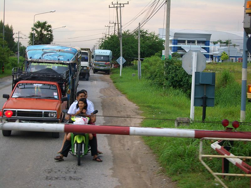 Level crossing in Sri Racha,Thailand