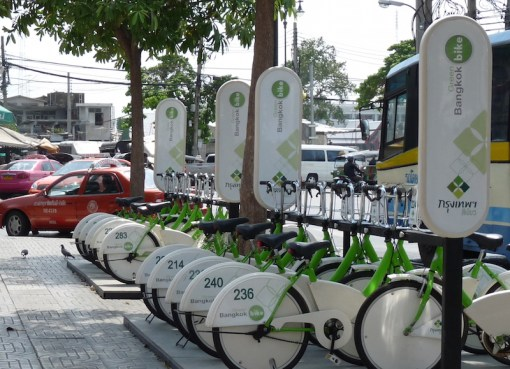 Bicycle sharing system in Bangkok