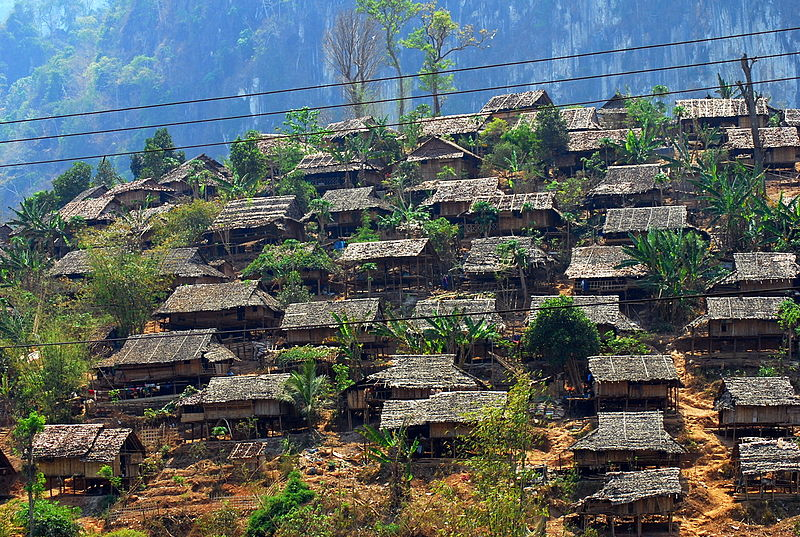 Mae La refugee camp in Thailand