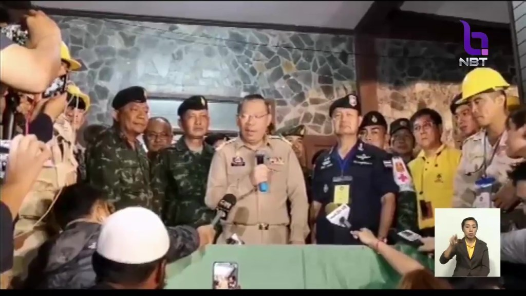 Chiang Rai Governor Narongsak Osottanakorn at Tham Luang cave