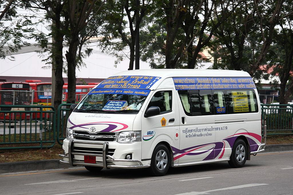 Toyota minivan in Bangkok