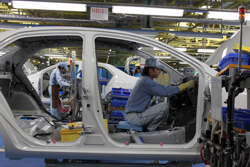 Toyota halts production in Thailand due to parts shortage