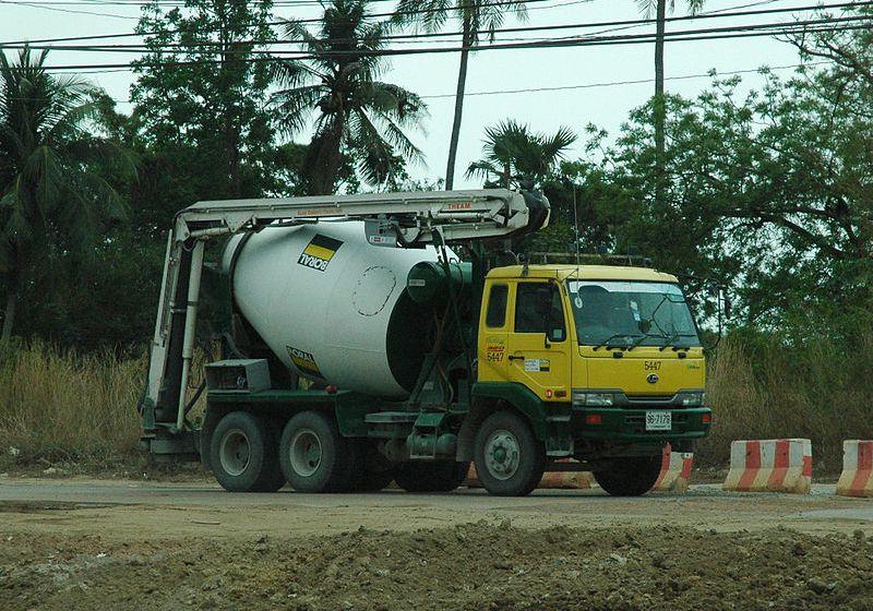 Cement mixer truck in Thailand