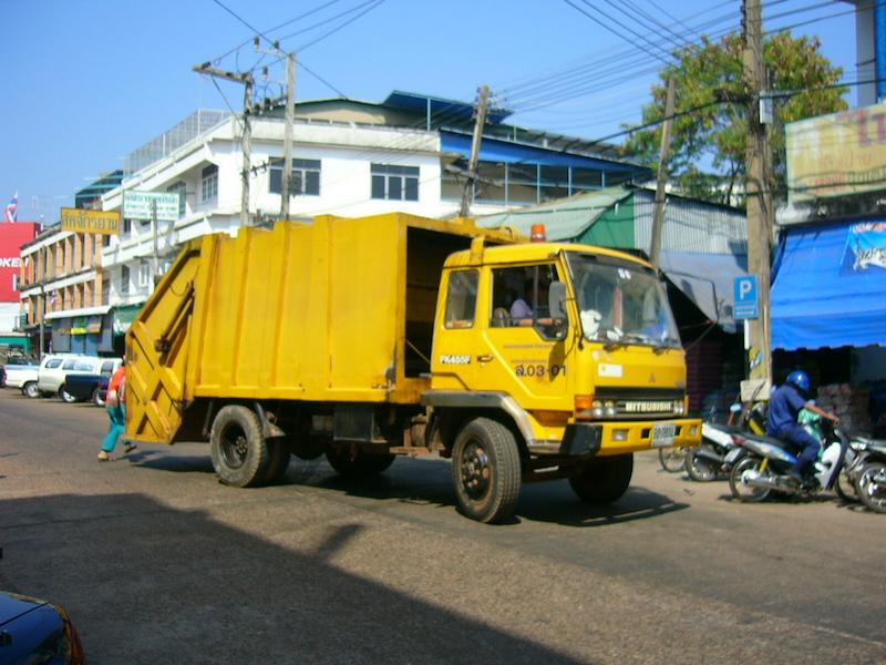 Garbage truck in Sakon Nakhon, Thailand