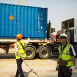 Container truck at Laem Chabang Port, Chonburi