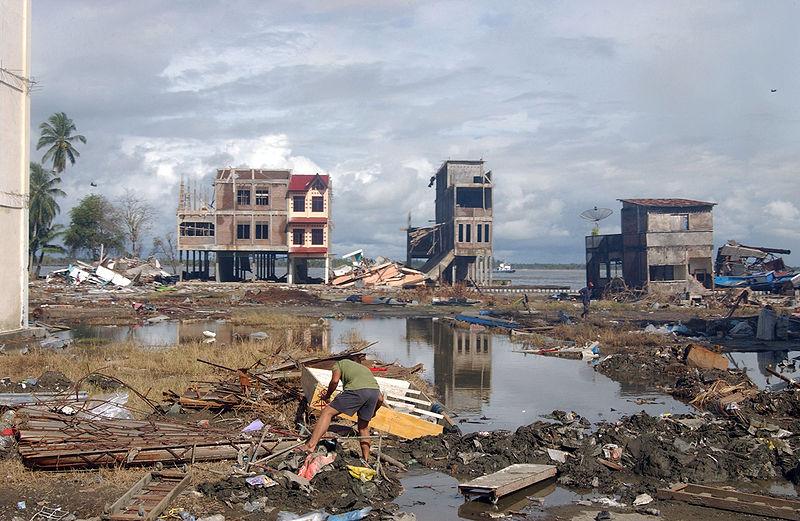 Meulaboh in Sumatra, Indonesia after the 2005 Tsunami