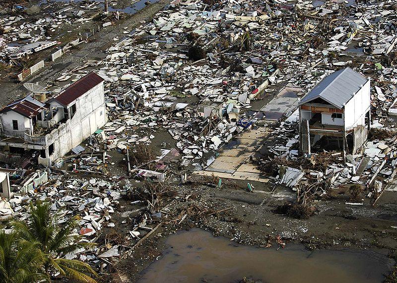 Meulaboh in Sumatra, Indonesia after tsunami.