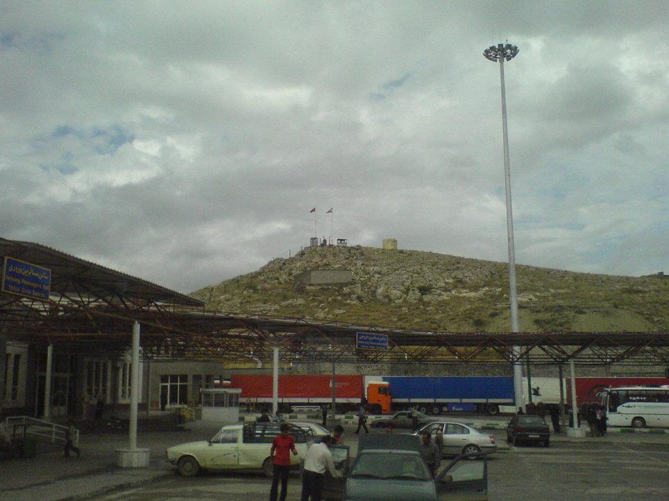 Turkey-Iran border in Bazargan