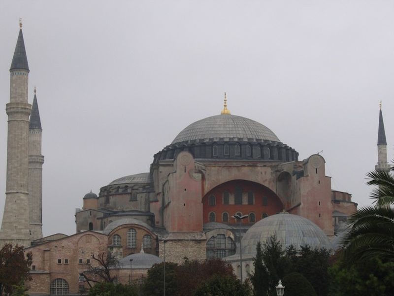 "Hagia Sophia Hagia Sophia or ""Santa Sophia was a Greek Orthodox Christian patriarchal basilica, later a mosque, and now a museum in Istanbul, Turkey"