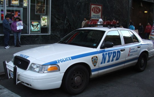 NYPD police car in New York