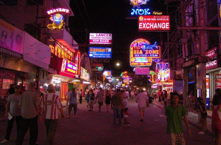 The popular Walking Street in Pattaya