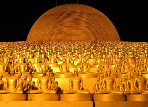 Golden dome at Wat Phra Dhammakaya, Pathum Thani