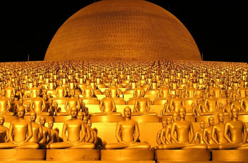 Golden dome at Wat Phra Dhammakaya, Pathum Thani