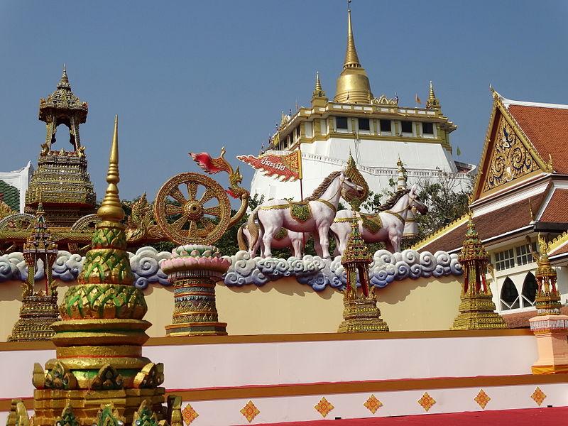Architecture of Wat Saket in Bangkok