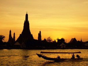 Wat Arun and a barge
