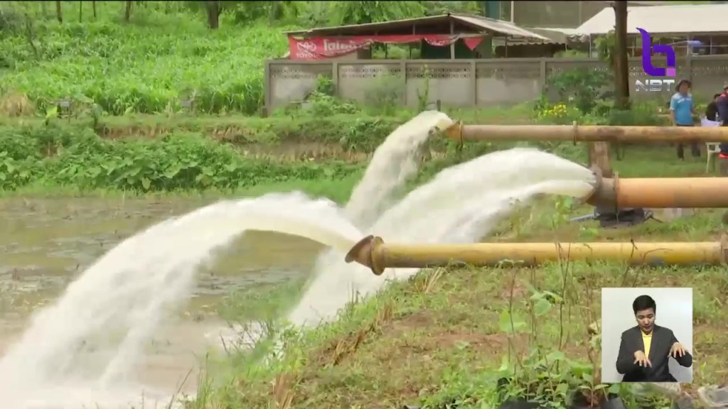 Water pumping near Tham Luang cave in Chiang Rai