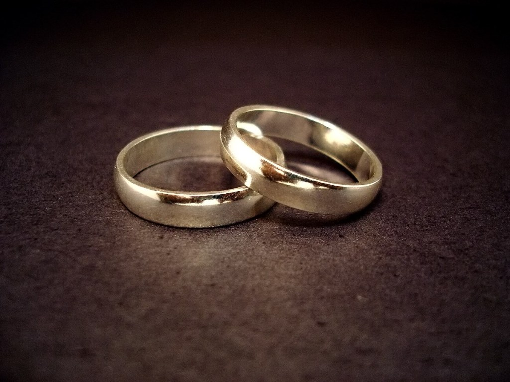 14-carat gold wedding rings