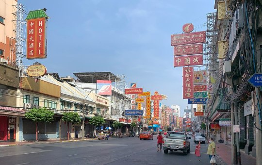 Bangkok's Chinatown Yaowarat, sits empty due the lack of foreigners during COVID-19
