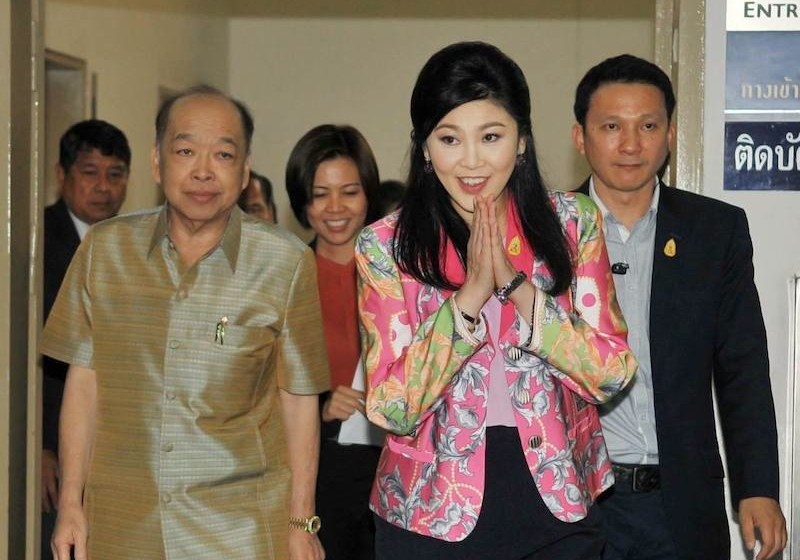 Former Prime Minister Yingluck Shinawatra and cabinet members