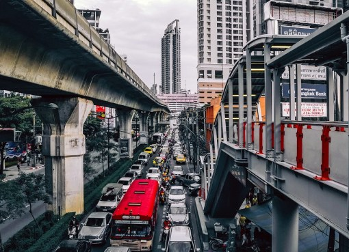 Traffic congestion in Bangkok
