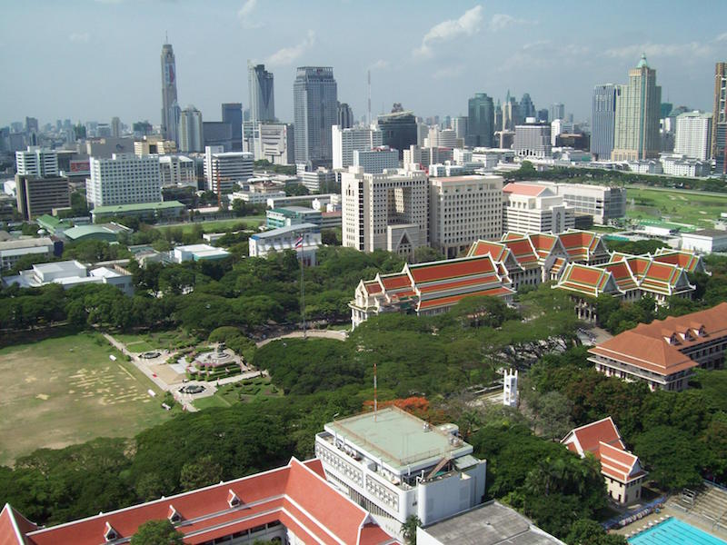 Chulalongkorn University, viewed from 19th floor of Mahamakut Building, Faculty of Science