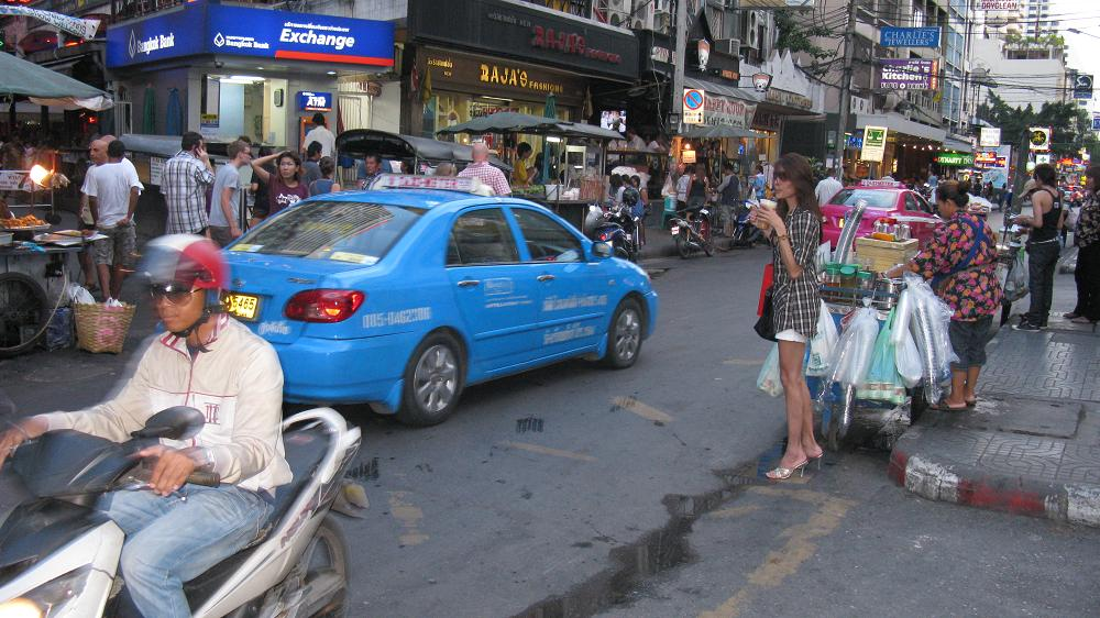 Busy street at Nana district in Bangkok
