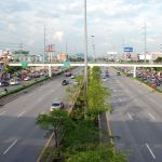 Pedestrian bridge in front of Central Plaza Rama II