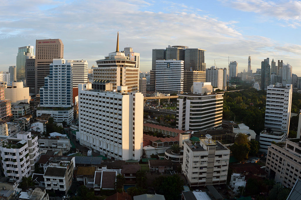 Silom district in Bangkok