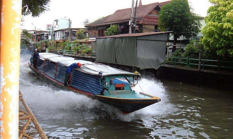 Water Taxi boat o Khlong Saen Saeb, Bangkok