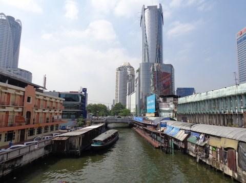 Boat at Khlong Saen Saep canal in Bangkok