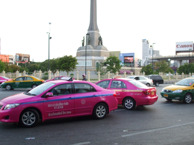 Taxis at Victory Monument, Bangkok