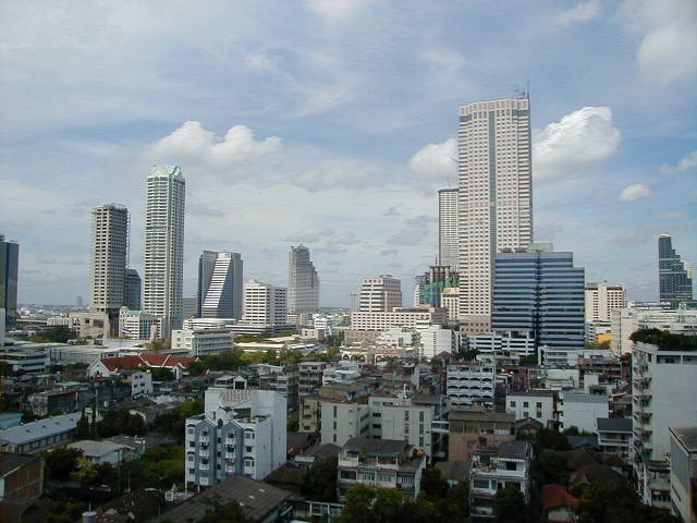 Buildings in metropolitan Bangkok, also known as Krung Thep