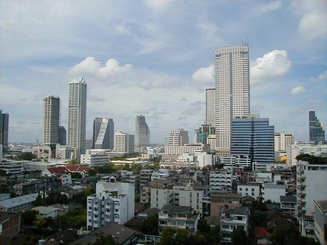 Buildings in metropolitan Bangkok, also known as Krung Thep
