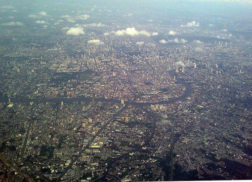 Aerial photograph of Bangkok