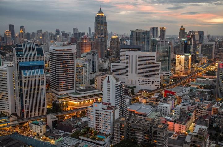 Aerial view of Pathum Wan in Bangkok