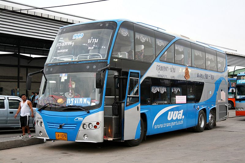 Volvo double decker bus in Bangkok